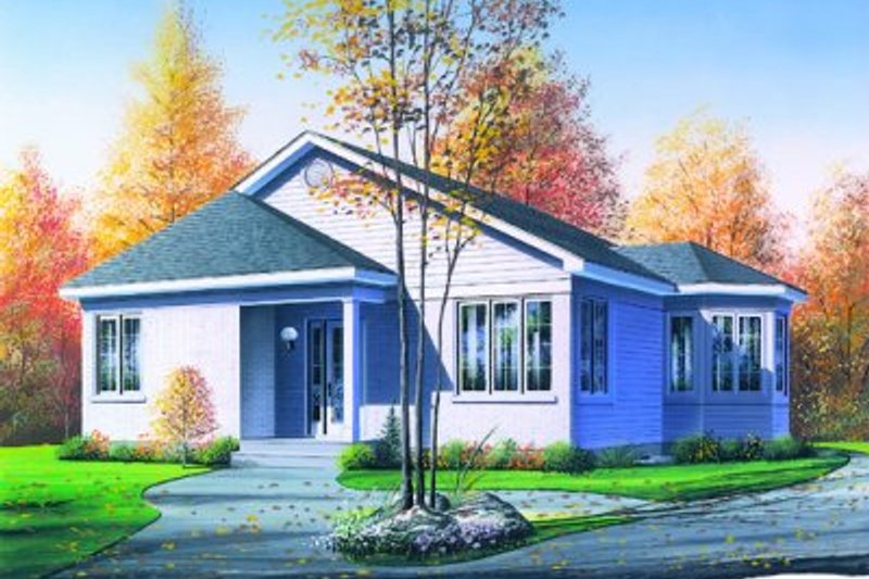 Dream House Plan - Traditional Exterior - Front Elevation Plan #23-114