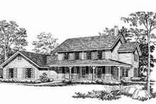 House Blueprint - Country Exterior - Front Elevation Plan #72-307