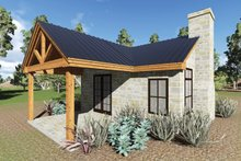 Cottage Exterior - Covered Porch Plan #935-9