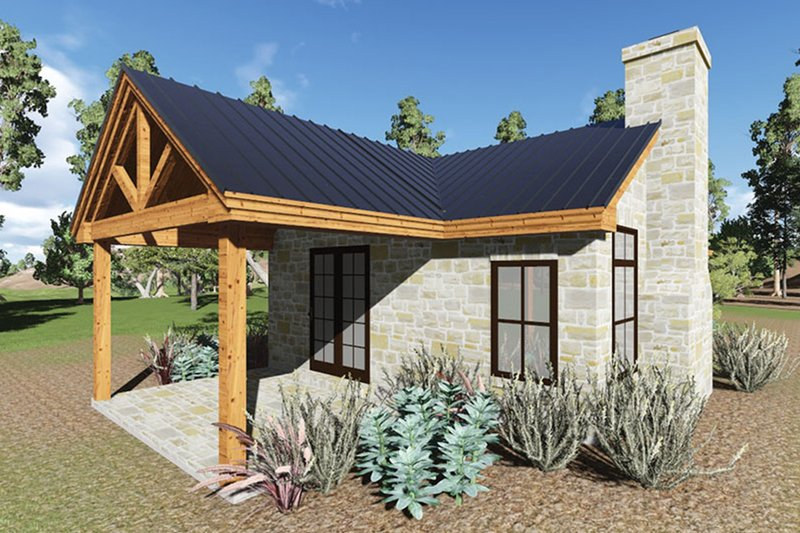 Cottage Exterior - Covered Porch Plan #935-9 - Houseplans.com