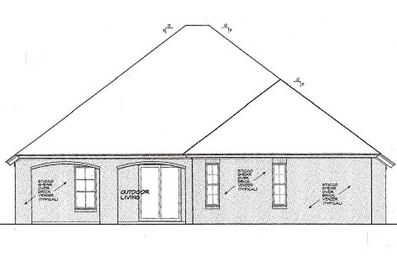 European Exterior - Rear Elevation Plan #310-982 - Houseplans.com