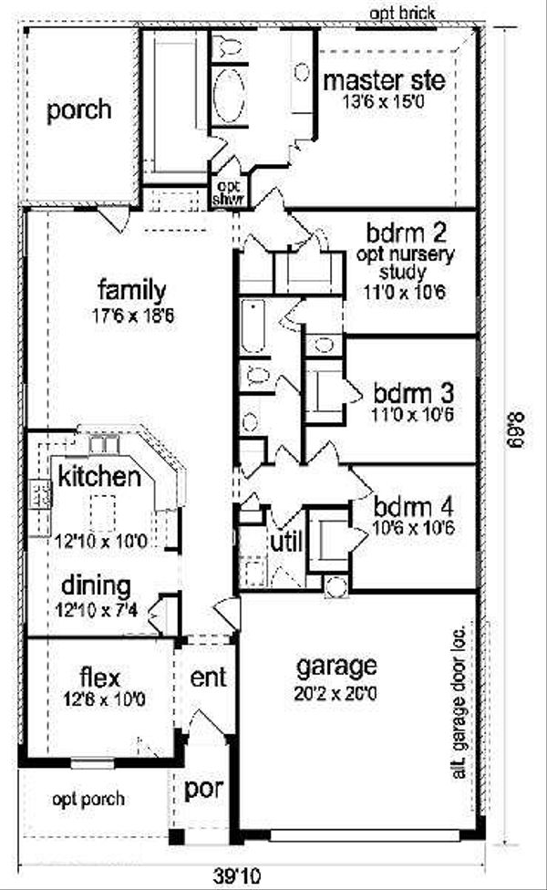 Home Plan - Traditional Floor Plan - Main Floor Plan #84-270