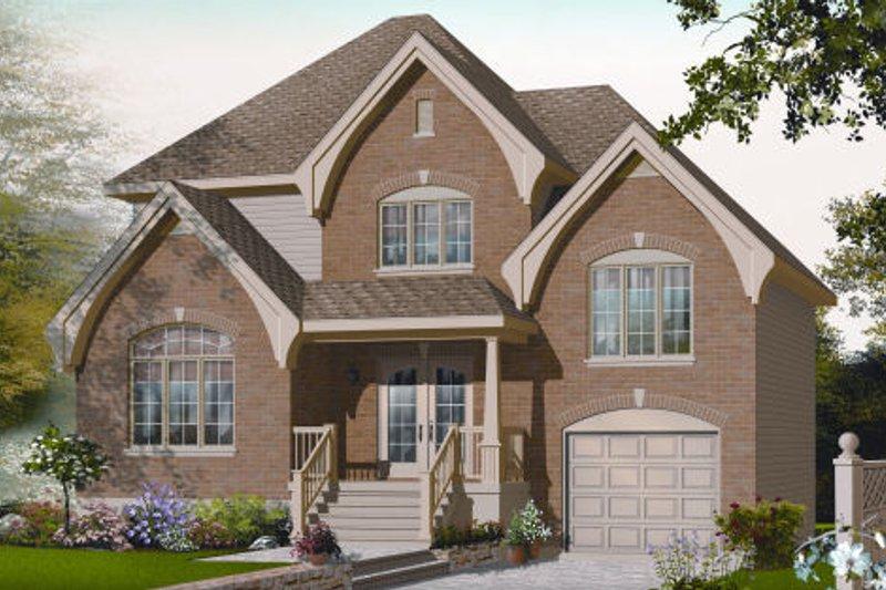 Dream House Plan - European Exterior - Front Elevation Plan #23-2235