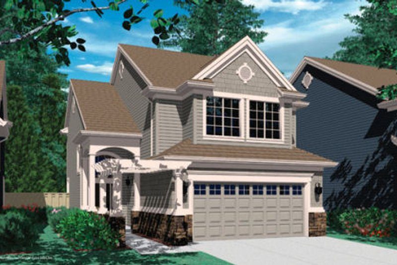 Craftsman Exterior - Front Elevation Plan #48-319