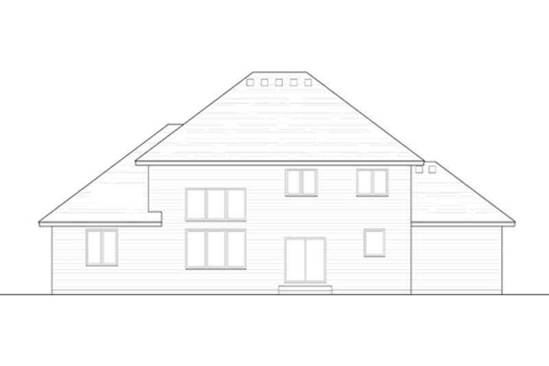Traditional Exterior - Rear Elevation Plan #51-405 - Houseplans.com