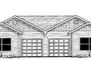 Ranch Style House Plan - 2 Beds 1.5 Baths 1912 Sq/Ft Plan #303-397 Exterior - Front Elevation