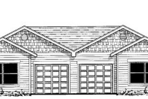 Ranch Exterior - Front Elevation Plan #303-397