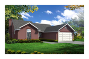 Traditional Style House Plan - 3 Beds 2 Baths 1623 Sq/Ft Plan #65-292 Exterior - Front Elevation