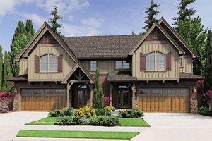 House Plan Design - Craftsman Exterior - Front Elevation Plan #48-549