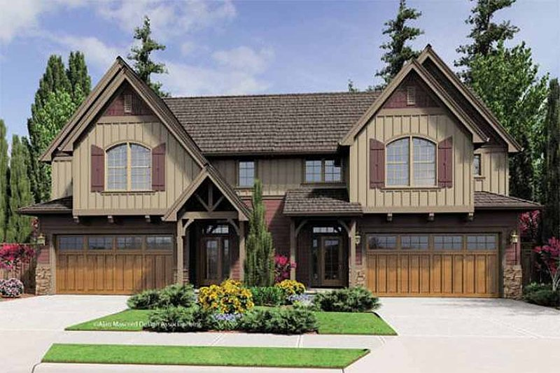Craftsman Style House Plan - 2 Beds 2.5 Baths 1639 Sq/Ft Plan #48-549 Exterior - Front Elevation