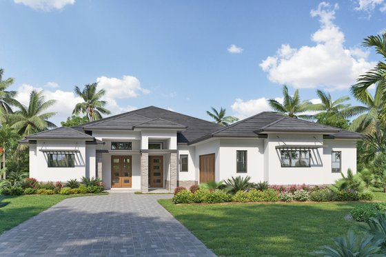 Ranch Exterior - Front Elevation Plan #938-111