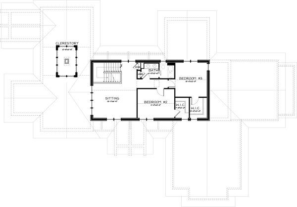 Craftsman Floor Plan - Upper Floor Plan Plan #895-3