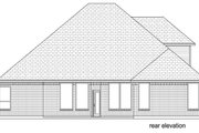 Traditional Style House Plan - 3 Beds 3 Baths 3040 Sq/Ft Plan #84-610 Exterior - Rear Elevation