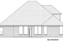 House Plan Design - Traditional Exterior - Rear Elevation Plan #84-610