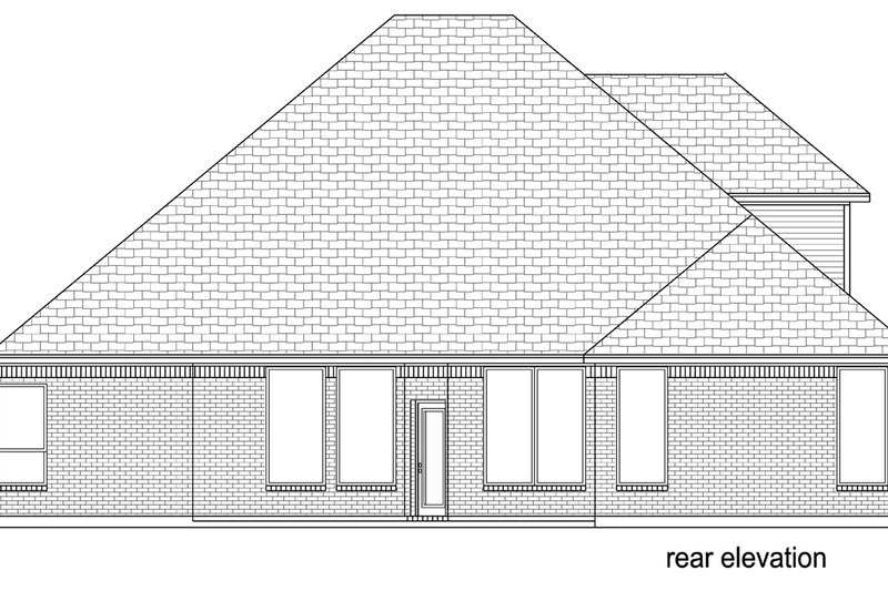 Traditional Exterior - Rear Elevation Plan #84-610 - Houseplans.com