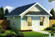 Cottage Style House Plan - 1 Beds 1 Baths 395 Sq/Ft Plan #513-2182 Exterior - Front Elevation