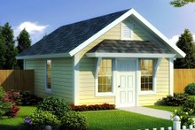 Cottage Exterior - Front Elevation Plan #513-2182