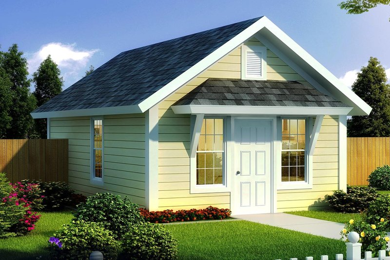 Cottage Exterior - Front Elevation Plan #513-2182