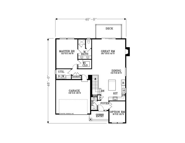 Craftsman Floor Plan - Main Floor Plan Plan #53-584