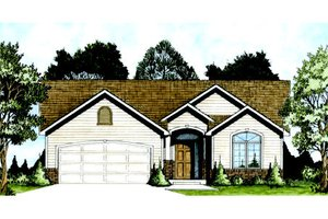 House Plan Design - Traditional Exterior - Front Elevation Plan #58-203