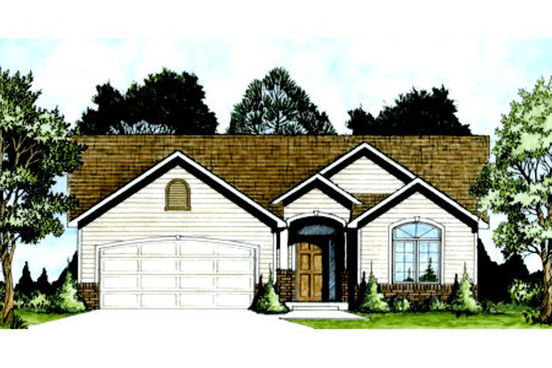 Architectural House Design - Traditional Exterior - Front Elevation Plan #58-203