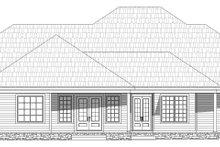 Dream House Plan - Country Exterior - Rear Elevation Plan #932-320