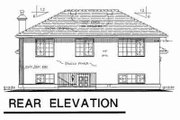 European Style House Plan - 4 Beds 3 Baths 1891 Sq/Ft Plan #18-9237 Exterior - Rear Elevation
