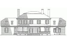 Classical Exterior - Rear Elevation Plan #137-158