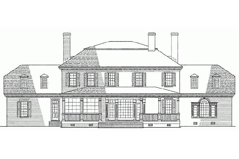 Classical Exterior - Rear Elevation Plan #137-158 - Houseplans.com