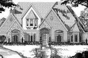 European Style House Plan - 5 Beds 4 Baths 4185 Sq/Ft Plan #62-134 Exterior - Front Elevation