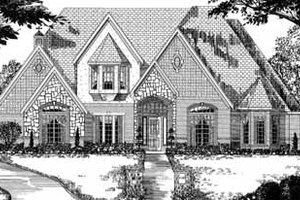 European Exterior - Front Elevation Plan #62-134