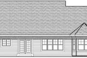 Traditional Style House Plan - 3 Beds 2 Baths 1810 Sq/Ft Plan #70-613 Exterior - Rear Elevation