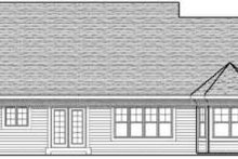 Home Plan - Traditional Exterior - Rear Elevation Plan #70-613