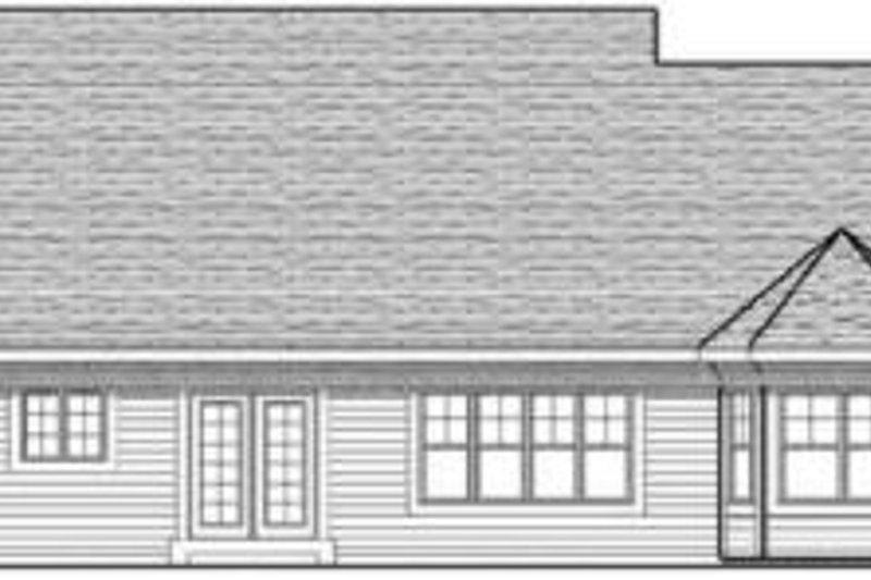 Traditional Exterior - Rear Elevation Plan #70-613 - Houseplans.com