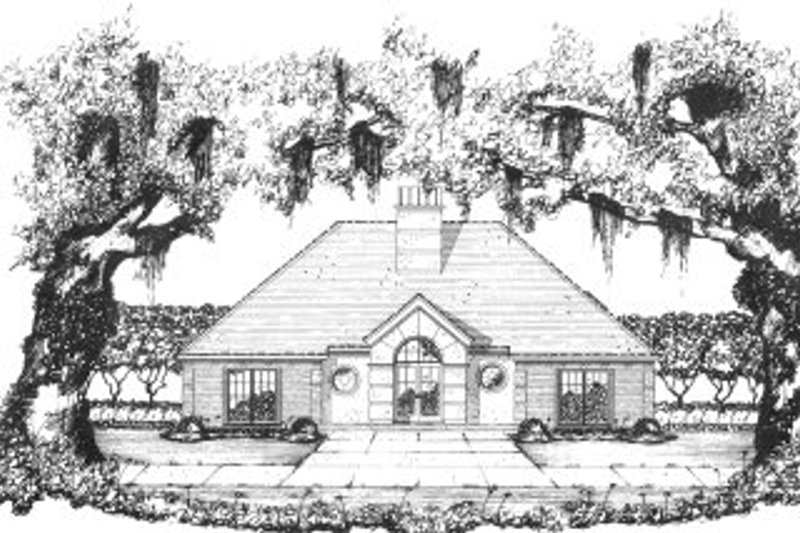 Country Style House Plan - 3 Beds 2 Baths 1907 Sq/Ft Plan #36-334 Exterior - Front Elevation