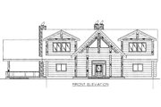 Log Style House Plan - 4 Beds 3.5 Baths 4565 Sq/Ft Plan #117-401 Exterior - Rear Elevation