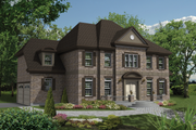 Colonial Style House Plan - 4 Beds 4 Baths 3932 Sq/Ft Plan #25-4487 Exterior - Front Elevation