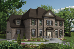 Colonial Exterior - Front Elevation Plan #25-4487