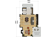 Contemporary Style House Plan - 3 Beds 1.5 Baths 1664 Sq/Ft Plan #25-4931