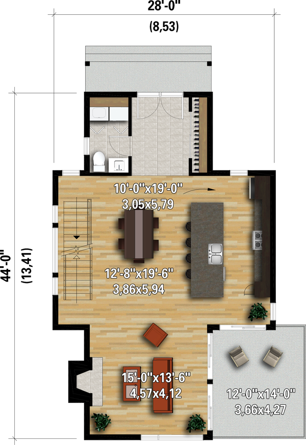 House Plan Design - Contemporary Floor Plan - Main Floor Plan #25-4931