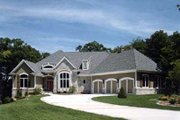 European Style House Plan - 2 Beds 1.5 Baths 3012 Sq/Ft Plan #70-472 Exterior - Front Elevation