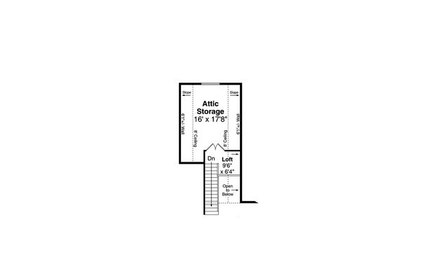 Craftsman Floor Plan - Upper Floor Plan #124-1184