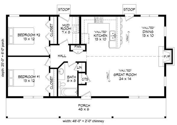 Country Floor Plan - Main Floor Plan Plan #932-96