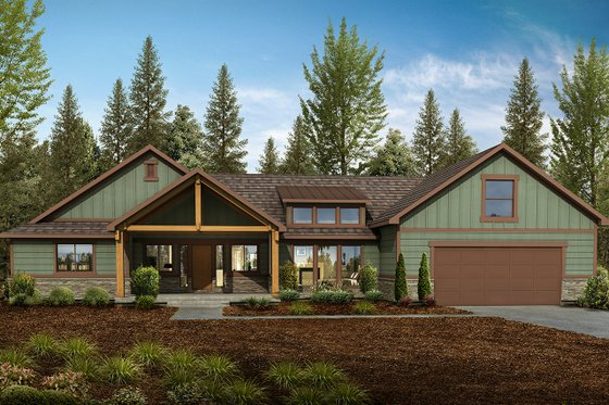 Home Plan - Craftsman Exterior - Front Elevation Plan #1073-3