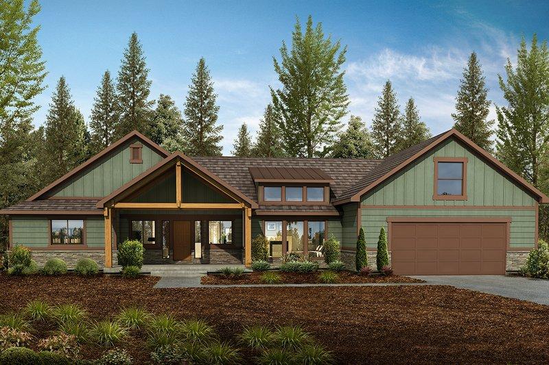 Architectural House Design - Craftsman Exterior - Front Elevation Plan #1073-3