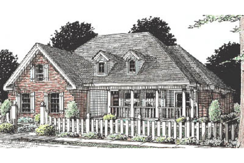 Country Exterior - Front Elevation Plan #20-180