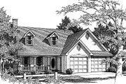 Traditional Style House Plan - 4 Beds 2.5 Baths 1705 Sq/Ft Plan #14-216 Exterior - Front Elevation