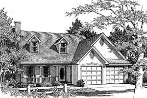 Traditional Exterior - Front Elevation Plan #14-216