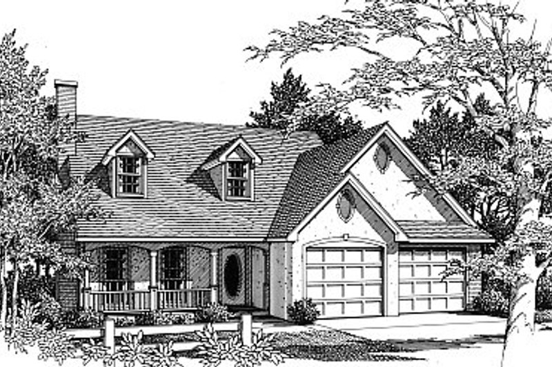 Architectural House Design - Traditional Exterior - Front Elevation Plan #14-216