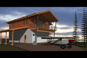 Cabin Style House Plan - 1 Beds 2 Baths 863 Sq/Ft Plan #910-3